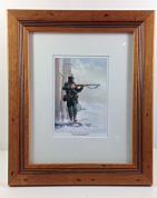 Framed 10x12 print of Rifleman Harris